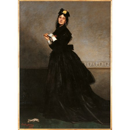 Lady With A Glove (Mrs Carolus Duran Stretched Canvas -  (18 x
