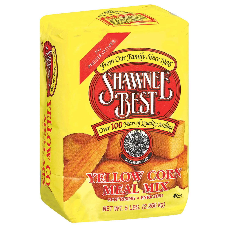 Shawnee Best® Yellow Degerminated Self Rising Enriched Corn Meal Mix 5 Lb Bag - Walmart.com