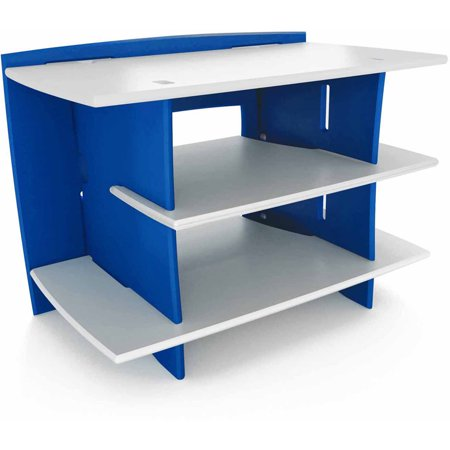 Legare Kids Furniture Race Car Series Collection Gaming Center Stand, Blue and White