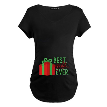 KABOER 2019 New Pregnant Woman Christmas Mama Best Gift Ever Letter Printed Maternity T Shirts Casual Short Sleeve Pregnant Mother T-Shirt Premama Wear Tops ()