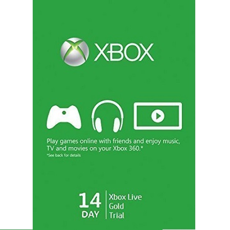 Xbox Live 14 Day Trial Card