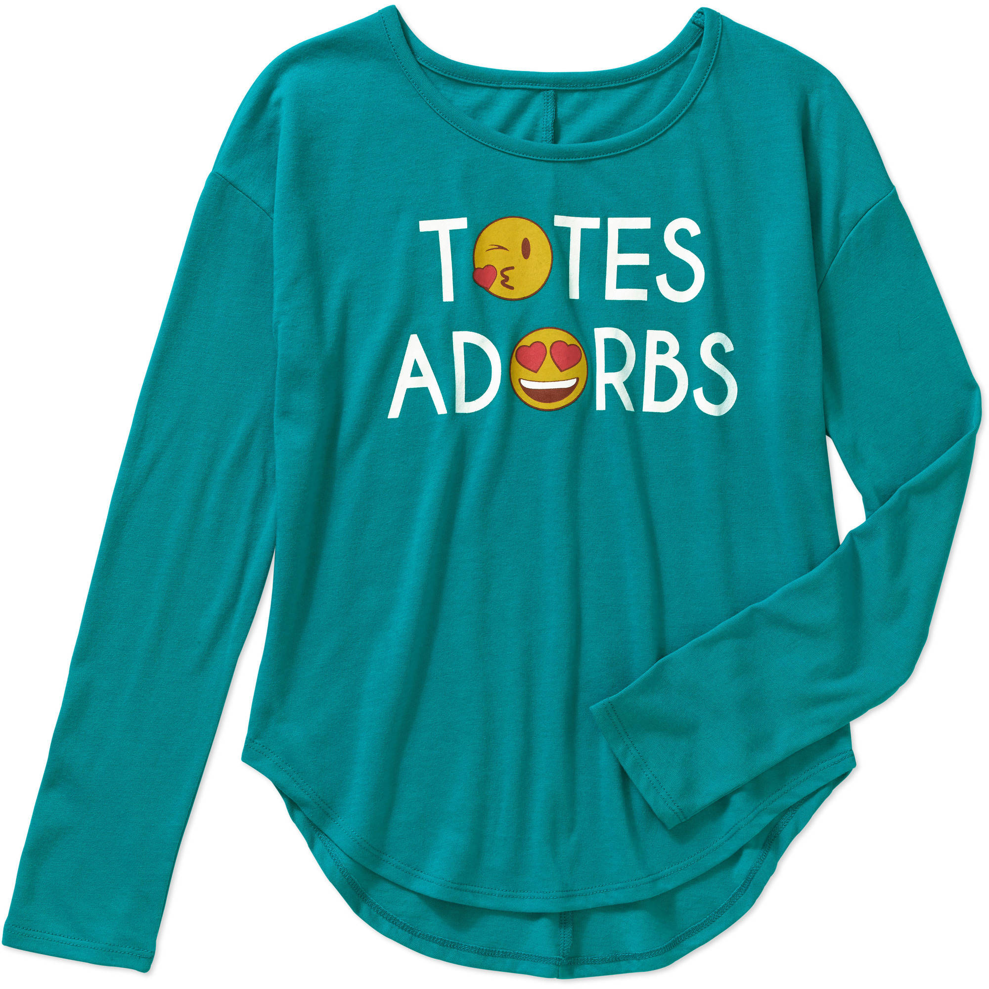 Gems And Jets Girls' Long Sleeve Crew Neck Totes Adorbs Graphic Tee