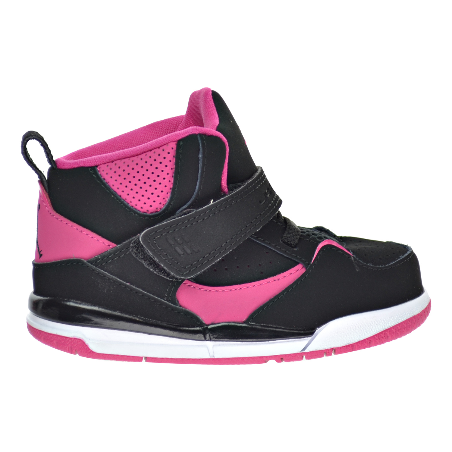 Nike Flight 45 High GT Toddler Shoes Black/Vivid Pink/Whi...