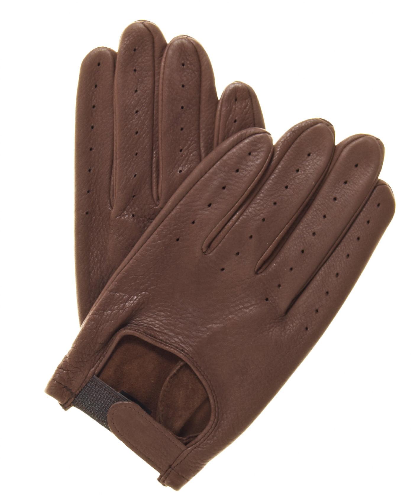 Driving gloves at walmart - Pratt And Hart Men S Deerskin Leather Driving Gloves
