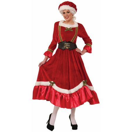 Womens Mrs. Claus Traditional Dress - Mrs Santa Claus Suit