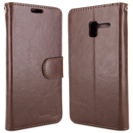 CoverON Alcatel TRU / Stellar Case, CarryAll Series Credit Card Holder Folio Synthetic Leather Wallet Phone Cover