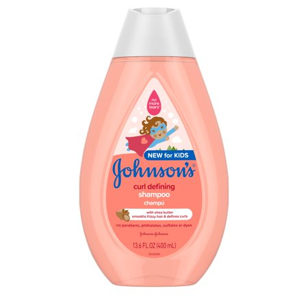 Johnson's Curl-Defining Kids' Shampoo with Shea Butter, 13.6 fl. oz