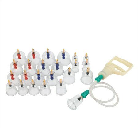 Garosa 24pcs ventouses thérapie ensemble ventouses ensemble avec aimants de pompe à vide thérapie de ventouses biomagnétique tasse acupuncture ventouses équipement de thérapie massage TCM - image 7 de 9
