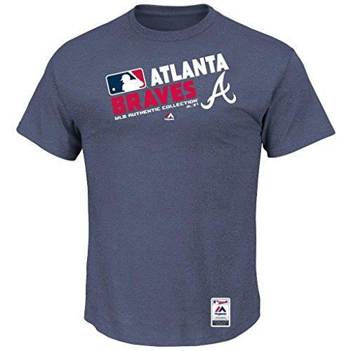 MLB Men's Authentic Collection Team Choice T-Shirt (Medium, Atlanta Braves)