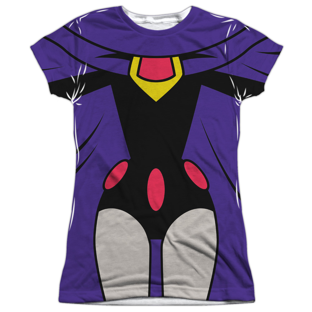 Teen Titans Go Raven Uniform (Front Back Print) Juniors Sublimation Shirt