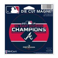 Atlanta Braves WinCraft 2019 NL East Division Champions 5'' x 5'' Die-Cut Car Magnet