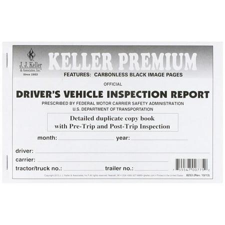 J.J. Keller 8253 Detailed Drivers Vehicle Inspection Report - image 1 de 1