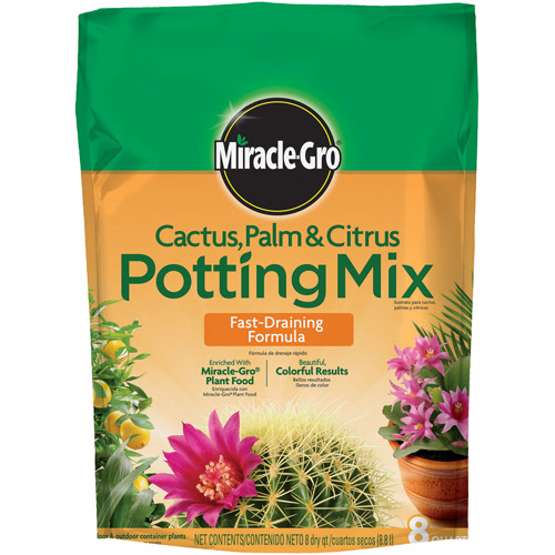Miracle-Gro Cactus, Palm and Citrus Potting Mix, 8 qt bag