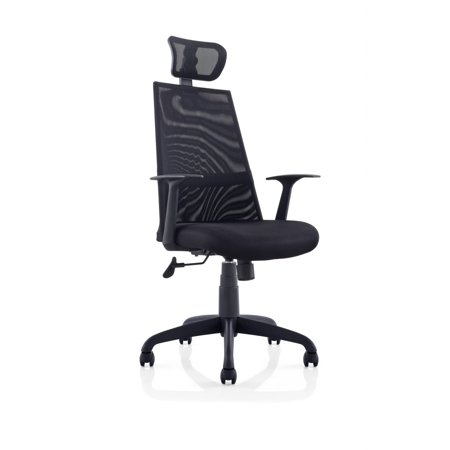 Meshed Ergo Office Chair With Headrest Black