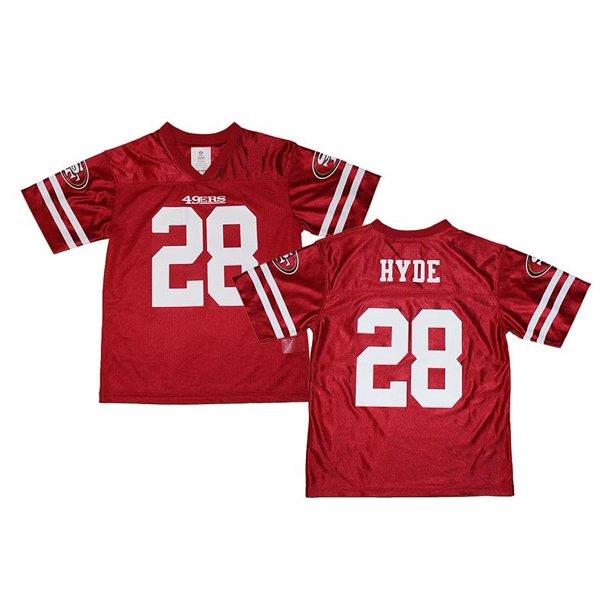 carlos hyde 49ers black jersey
