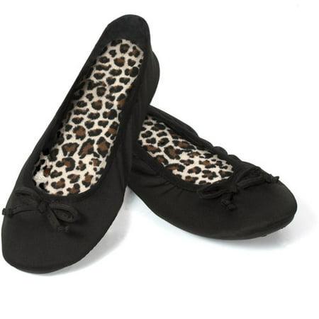 dearfoams women s matte spandex ballerina slippers walmart com