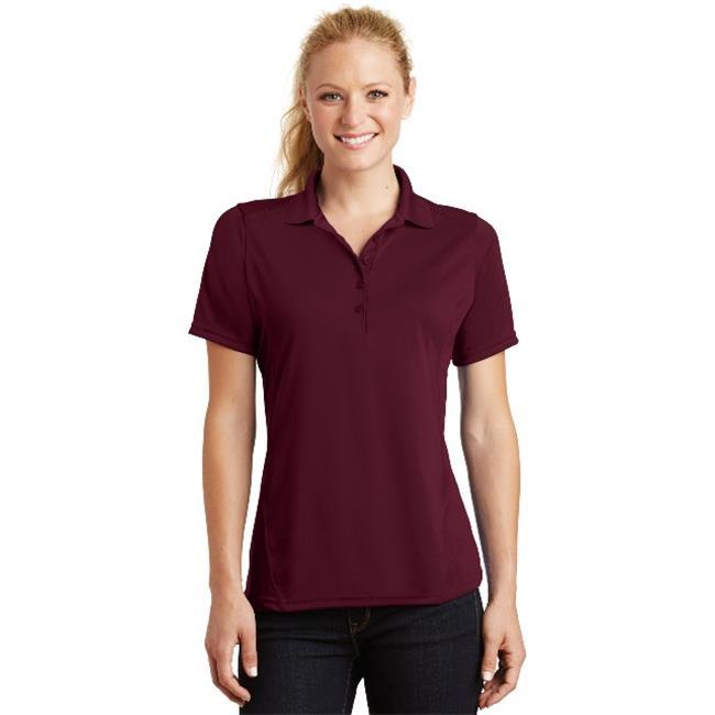 Sport-Tek® Ladies Dry Zone® Raglan Accent Polo. L475 Maroon L - image 1 of 1