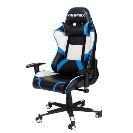 Merax Racing Style High Back Office Chair With Lumbar Support And Headrest Executive Swivel