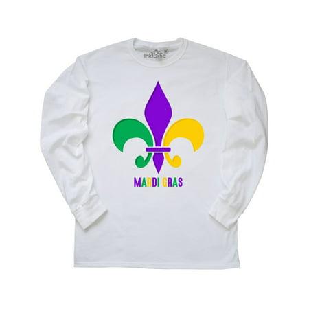 Rhinestone Fleur De Lis Tee - Mardi Gras Fleur De Lis Long Sleeve T-Shirt