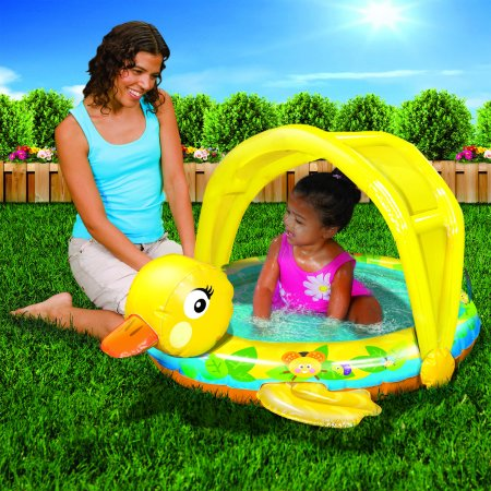 Butterfly Baby Pool - Banzai Shady Time Duck Inflatable Baby Pool