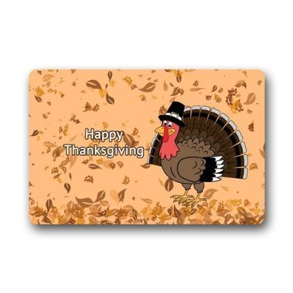 WinHome Thanksgiving Doormat Floor Mats Rugs Outdoors/Indoor Doormat Size 23.6x15.7 inches
