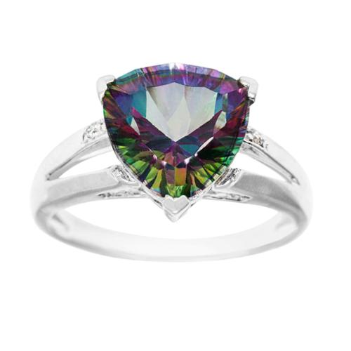 asher jewelry 14k white gold mystic topaz and