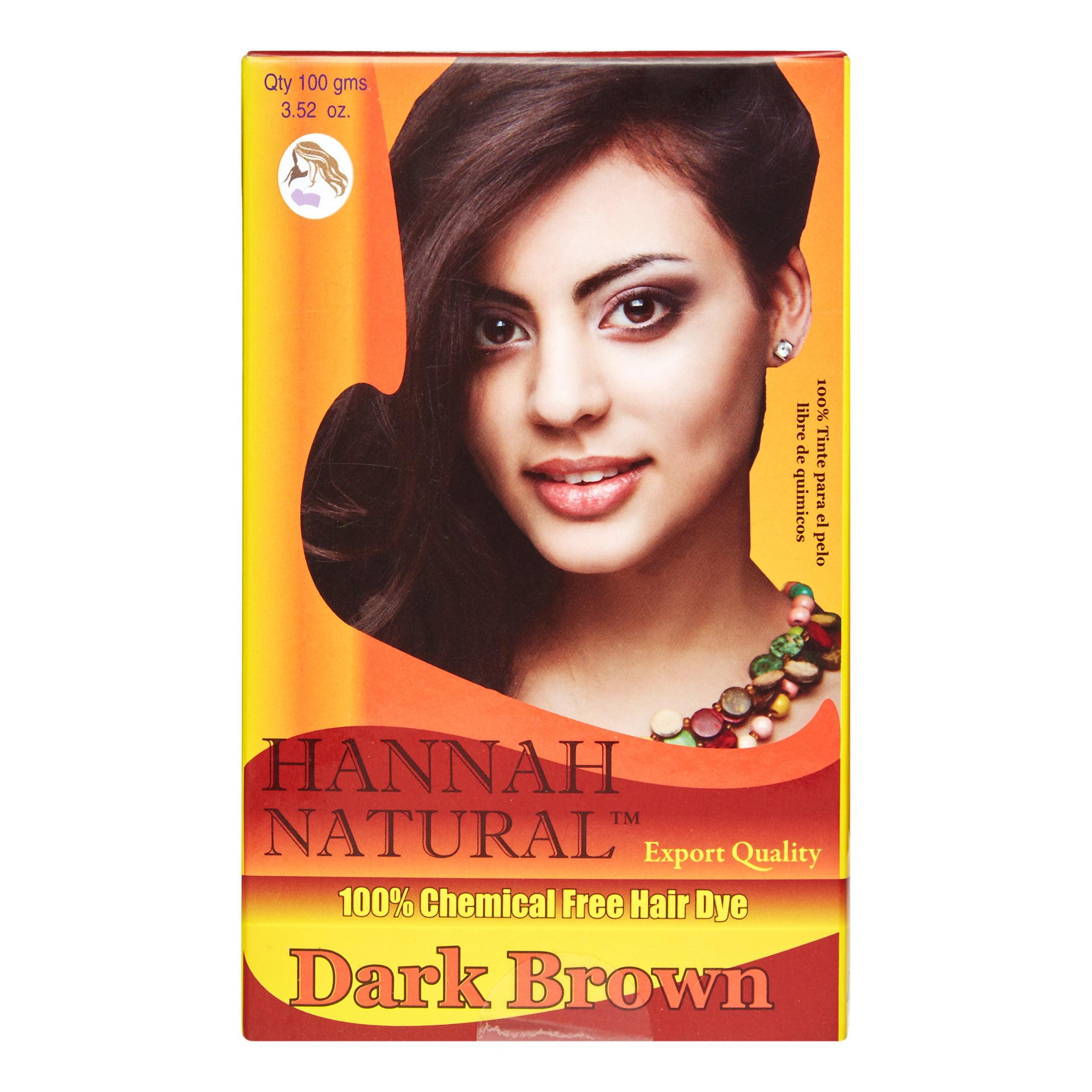 Hannah Natural 100 Chemical Free Hair Dye Dark Brown 100 G