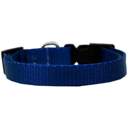 Plain Nylon Dog Collar XL Blue
