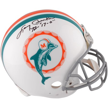Larry Csonka Miami Dolphins Autographed Riddell Throwback Pro Line Helmet with