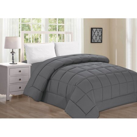 Celine Linen  Goose Down Alternative 1pc SOLID Gray Comforter -, King/Cal King, Gray ()