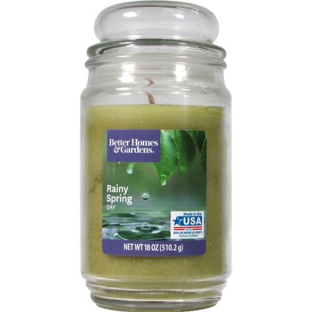 Better Homes & Gardens Rainy Spring Day Single-Wick 18 oz. Jar Candle (Day Candle Set)