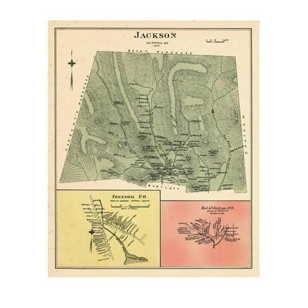 1892, Jackson, Jackson Town, Freedom, New Hampshire, United States Print Wall Art](Halloween Town New Hampshire)