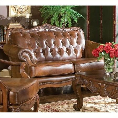 Tri Tone Leather Loveseat - Coaster Company Victoria Collection 62