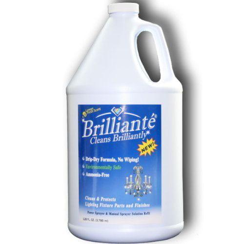 Brilliante Crystal Chandelier Cleaner 1 Gallon Refill Environmentally Safe Ammonia Free Drip Dry Formula Made In Usa Walmart Com Walmart Com