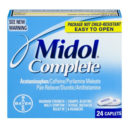 Midol complet de secours Multi-Symptom, 24 count