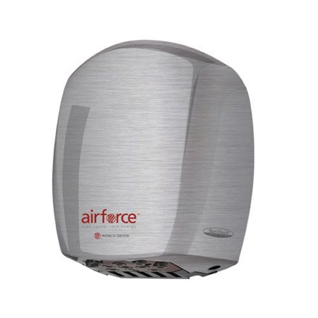 World Dryer Airforce J-972 High Speed Automatic Hand Dryer Pol Stainless (Air Force High Speed Low Energy World Dryer)
