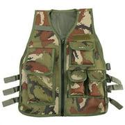 Fdit Nylon CS Game Airsoft Molle Plate Carrier Body Armor Vest For Children , armor vest, body armor
