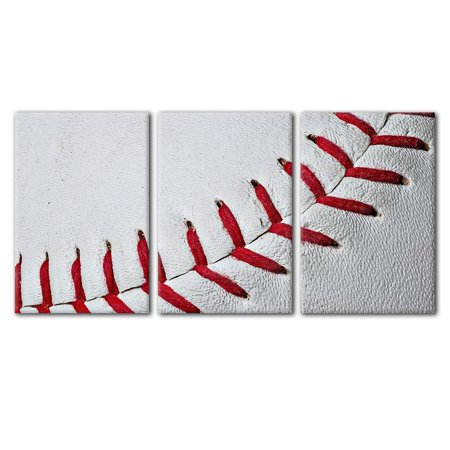 wall26 - Close Up of Baseball Seams - Canvas Art Wall Decor - 16