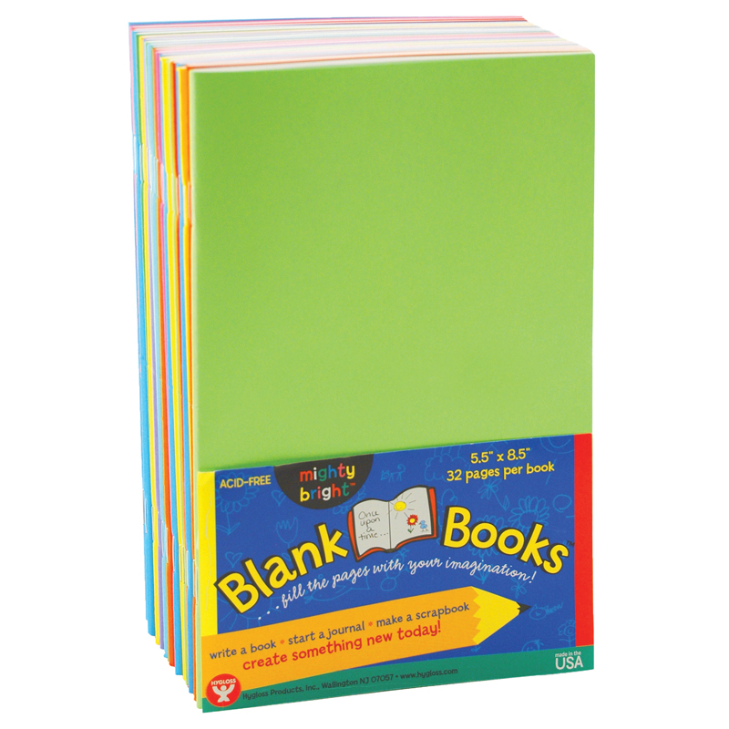 (2 Ea) Mighty Brights Books 32 Pg 5 1 2X8 1 2 10 Bk Asst Clrs by Hygloss Products Inc