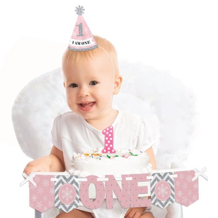 Pink ONEderland 1st Birthday - First Birthday Girl Smash Cake Decorating Kit - Winter Wonderland High Chair Decorations](Winter Wonderland Office Decorating Ideas)