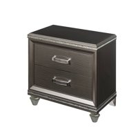 Acme Sadie Wooden Frame Nightstand in Dark Champagne
