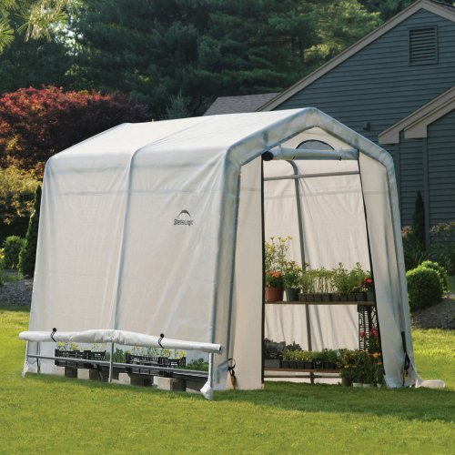 ShelterLogic 10'x20'x8' Growit Easy Flow Peak Style Greenhouse in White