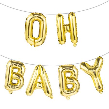 Baby Shower Letter Balloons.Kaboer 1pcs Oh Baby Balloons Aluminum Letter Balloons Girl Boy Baby Shower Decorations