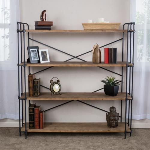 Christopher Knight Home Yorktown 4-Shelf Industrial Bookcase