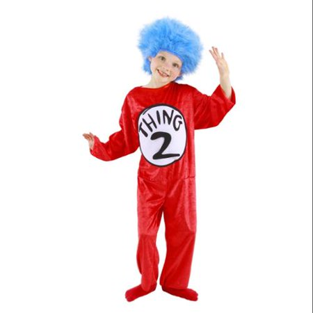 Dr. Seuss Thing 1 or 2 Child Halloween Costume (Cute Thing One And Two Costumes)