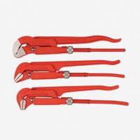 "Wiha 32995 3 Piece Pipe Wrench 12"" Narrow Style Set"