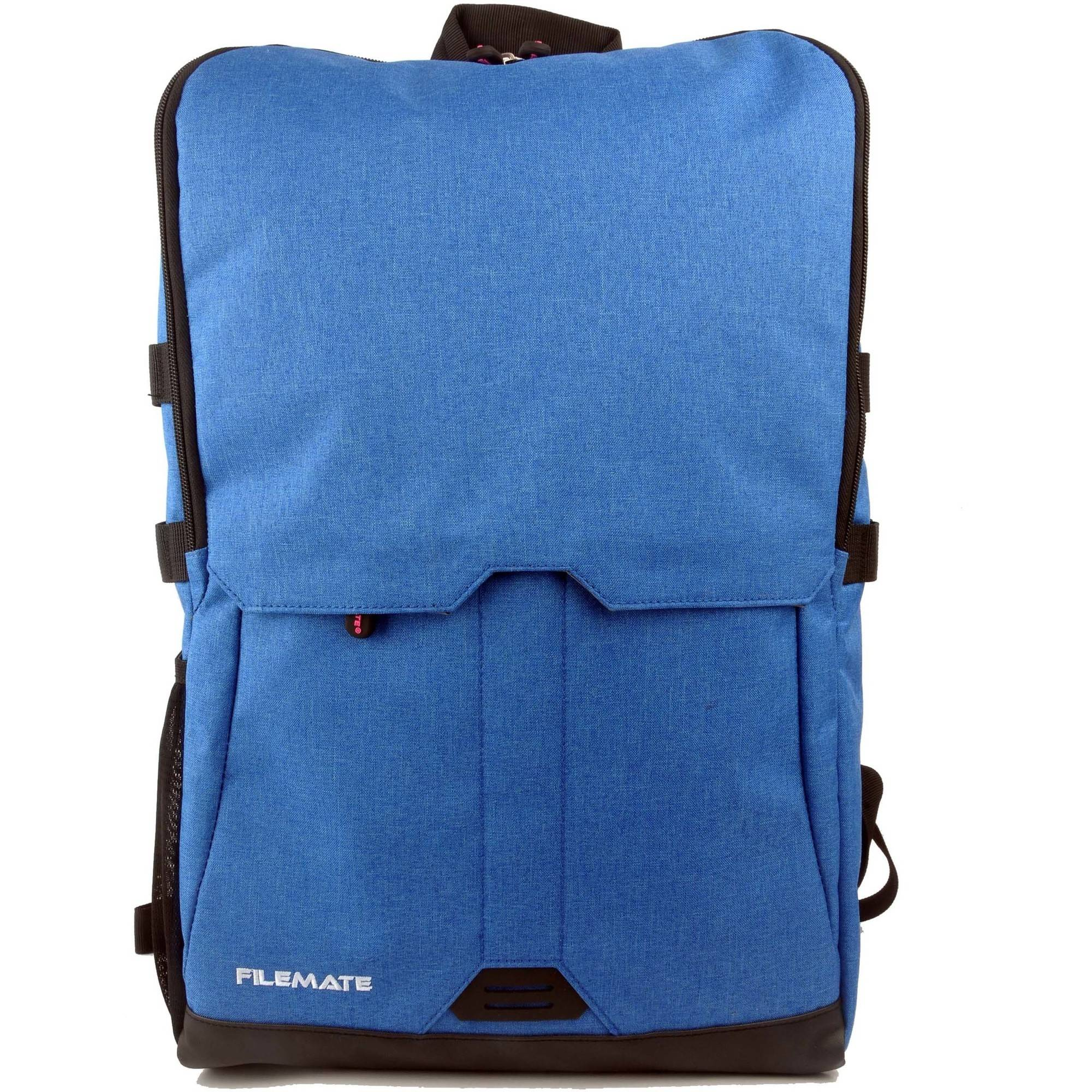 """FileMate Contempo Padded RFID Protected 15.6"""" Laptop Computer BackPack with 2 Acessory Pockets, Blue"""