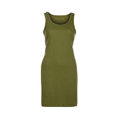 Women Ladies Fashion Sleeveless Loose Sundress Summer Holiday Beach Mini Vest Dress