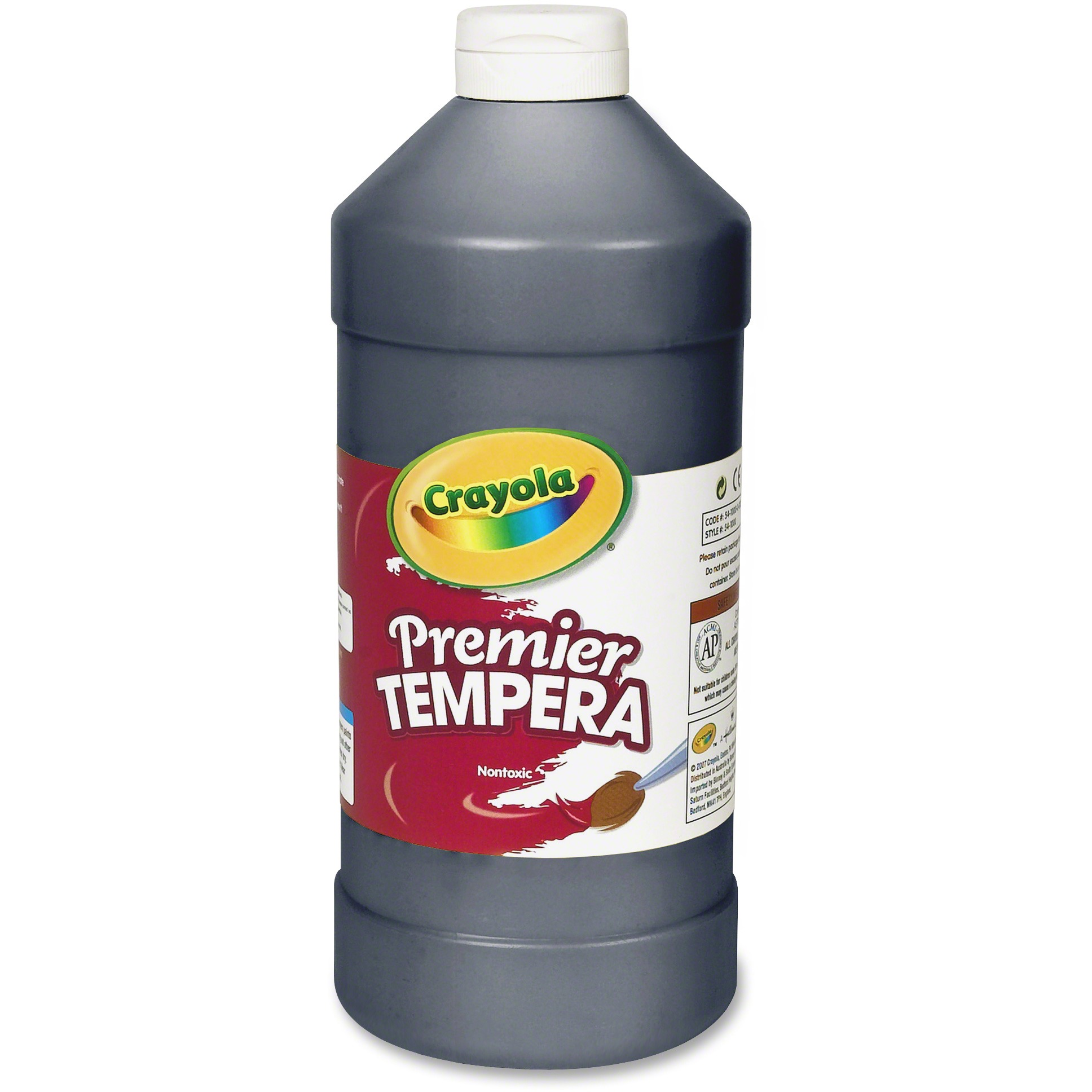 Crayola White Premier Tempera Paint, 32 ounce Squeeze Bottle