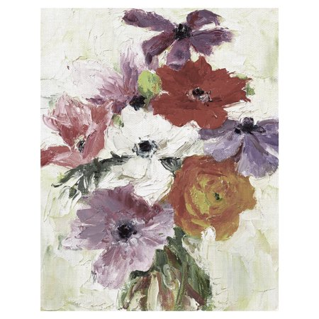 """Masterpiece Art Gallery Petit Fleur Flower Bouquet 4 Soft by Dale Payson Canvas Art Print 22"""" x 28"""""""